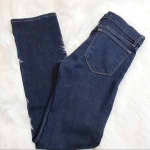 J Brand cigarette leg jeans in blue ink wash 28x30